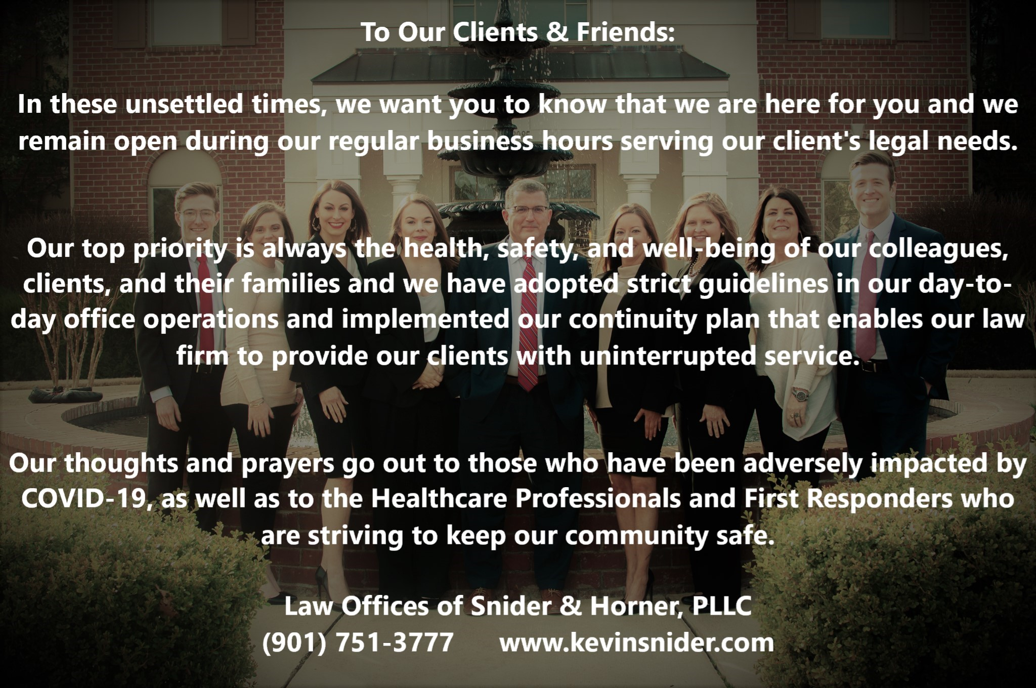 Message to Our Client and Friends